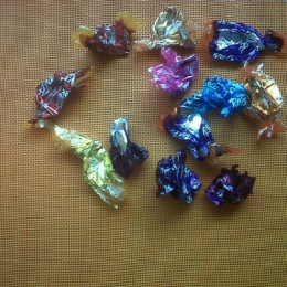 Sorry but I couldn't save the chocolates long enough to take pictures of them, these empty wrappers tell a sad tale.