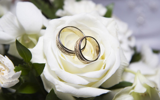 The main symbol of the wedding ceremony, the rings.