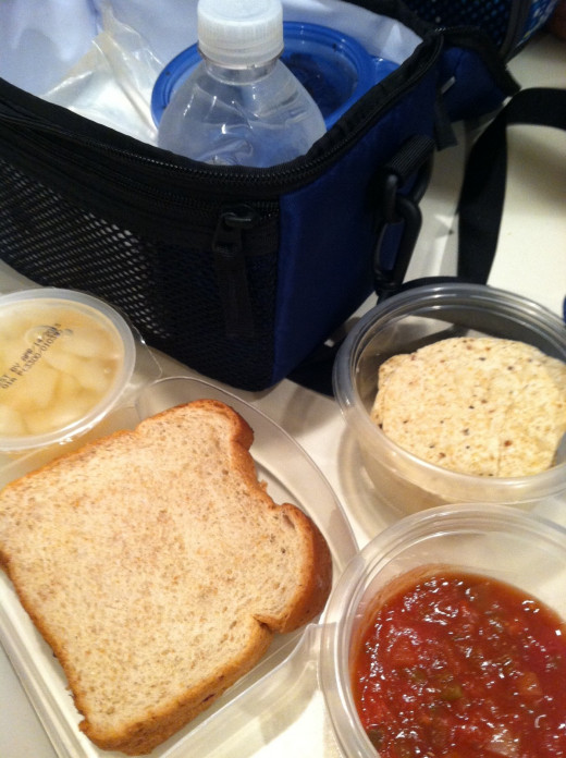Whole grain, natural, organic foods are best in a school lunch.