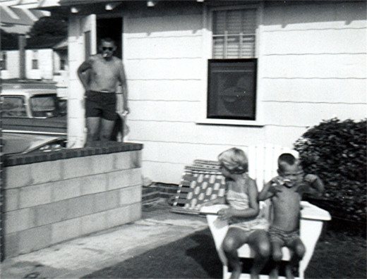 My Dad, my brother, and me at the Days Inn, Ocean View, Virginia 1962