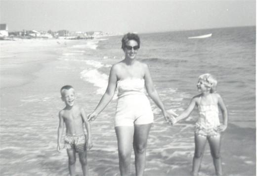 Family at Ocean View, Virginia 1963