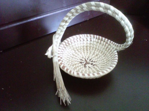 Handmade sweetgrass baskets in Charleston County South Carolina