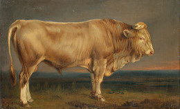 Painting of a bull by Benno Adam