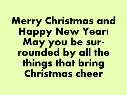 funny things write christmas card