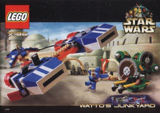 Lego Star Wars Watto's Junkyard 7186 Box