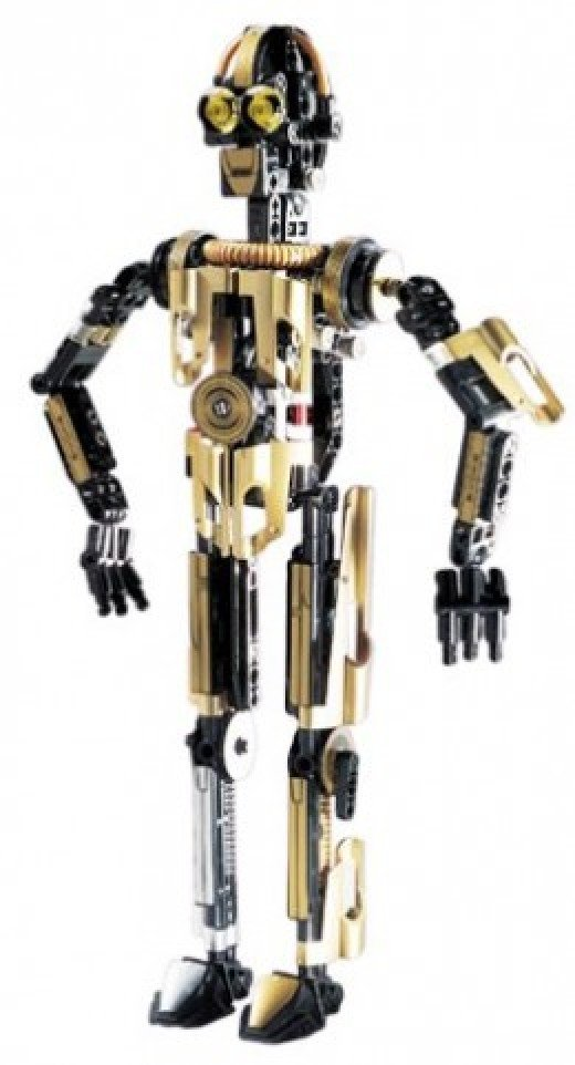 Lego Star Wars Technic C-3PO 8007 Assembled