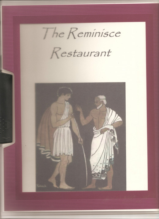 Sample of a menu for a sit-down restaurant in the Odyssey Theme Park.