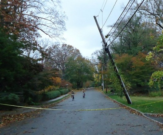 Summit New Jersey Power Lines - A small amount of the damage done during Hurricane Sandy