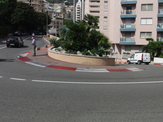 Normal street of Monaco where the formula 1 rally is held