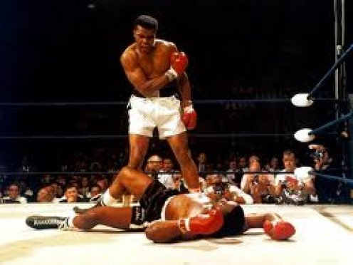 Muhammad Ali knocks out Sonny Liston in One Round in The Rematch in the first defense of his Championship. Source: Muhammad Ali: His Life and Times by Thomas Hauser. I have the Paperback.