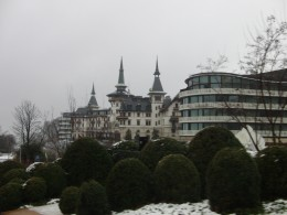 The Dolder Hotel in Zurich with the annex in the right