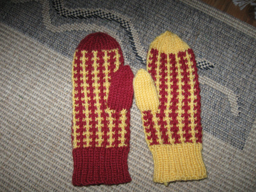 These homemade woolen mittens from Finland will keep frostbite at bay.  Brrrr!!!