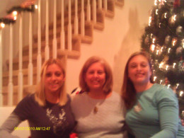 Daughters Christa & Cara with author, Denise