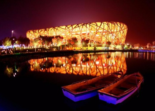The Bird's Nest (National Stadium) in the Olympic Park