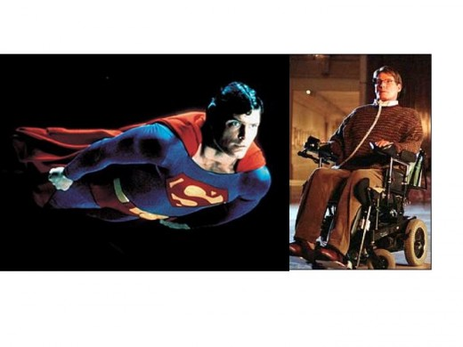 Christopher Reeves as Superman and Dr. Virgil Swann