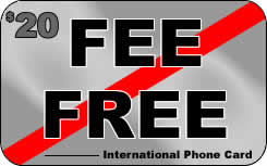 Fee Free phone cards, my own preferred choice