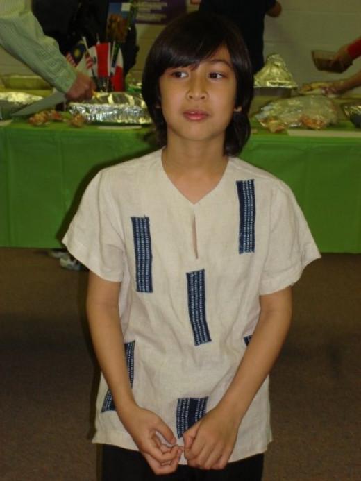 Filipino barong by Dita Sandico Ong.