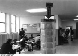 Government unemployment office with job listings, Berlin, Germany.