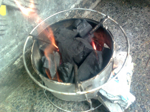 Start the fire with Newspaper or pour small amount of kerosene