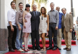 The cast in Hollywood when Mark Harmon was awarded his star on the Walk of Fame.
