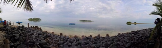 Panoramic View of Kalpeni Island