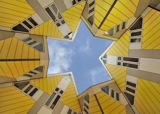 Rotterdam's Cube Houses from under