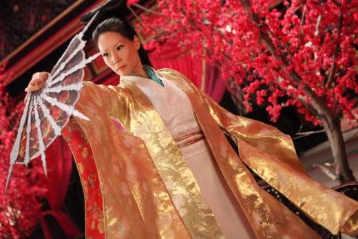 Madam Blossom (Lucy Liu) reveals her biggest fan.