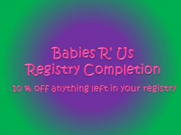 10% off anything left in your baby registry.