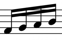 Group of four Sixteenth Notes