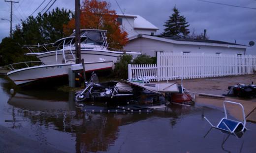 Flood residue