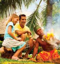 Watching fire being made in a coconut husk