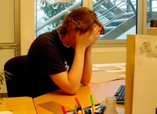 Chronic stress over a long period of time can cause skin aging - stress at work is a major factor