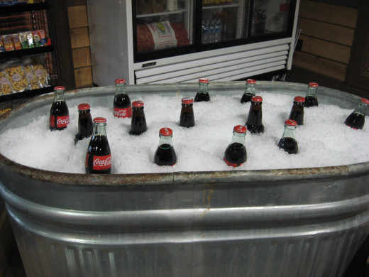ice-cold drinks