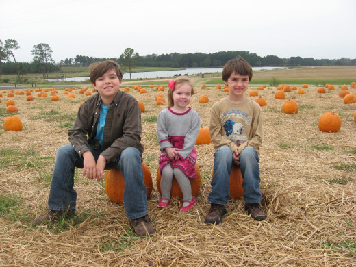 "in the ""punkin"" patch"
