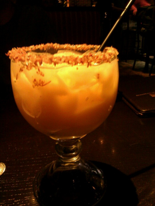 My absolute most favorite drink - Painkiller. This is a tropical rum drink with a limit of 2!
