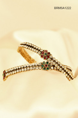 Mesmerizing Stone Studded Bangles for Diwali. Photo used with permission from Cbazaar.com.