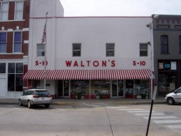 Sam Walton's first little store that became just a little bigger--look how small it is!