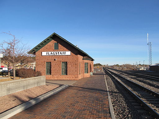 The original Santa Fe train depot.