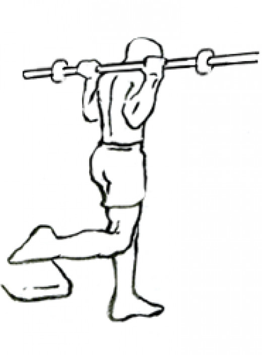 The Bulgarian Split Squat. Can be done with or without weight.