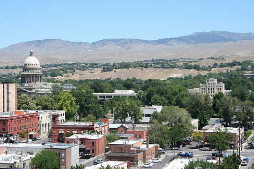 Foothills Behind Boise in the Summer