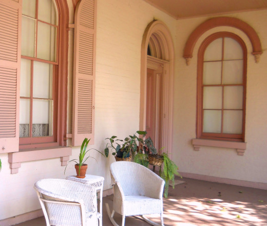 Front porch of the mansion.