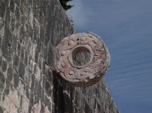 The stone ring in the Great Ball Court which the ball was 'thrown' through to make a score.