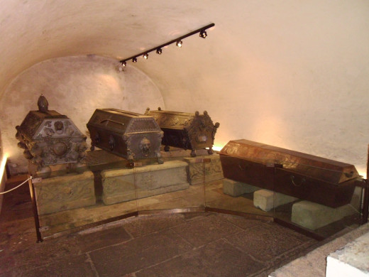 Crypt under St. Wenceslas Cathedral, Olomouc, Czech Republic