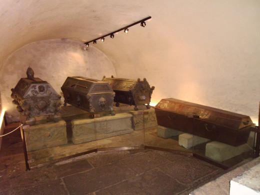 Crypt under St. Wenceslas Cathedral, Olomouc, Czech Republic