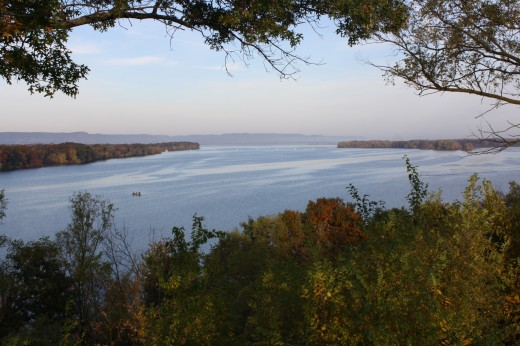A view of the Mississippi River