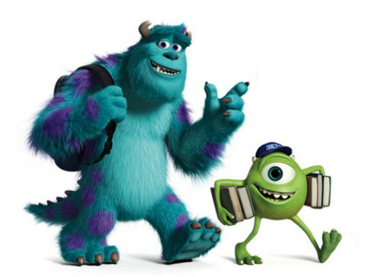 Mike and Sully hit the books in Monsters University
