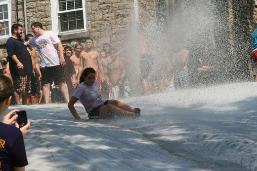 The legend of the giant slip n' slide lives on.