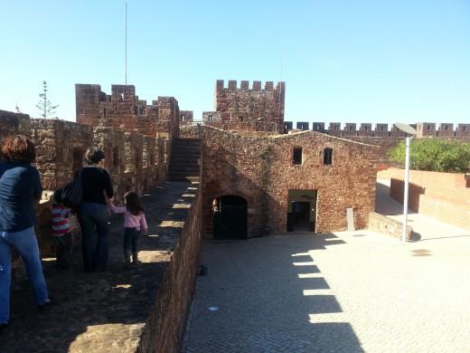 Around the castle walls