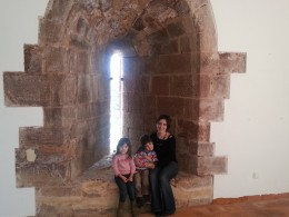 Inside one of the castle towers