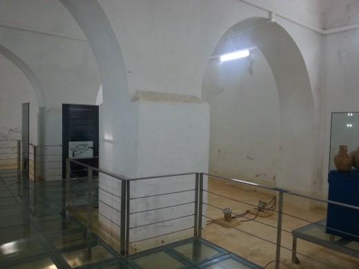 Inside the water tank